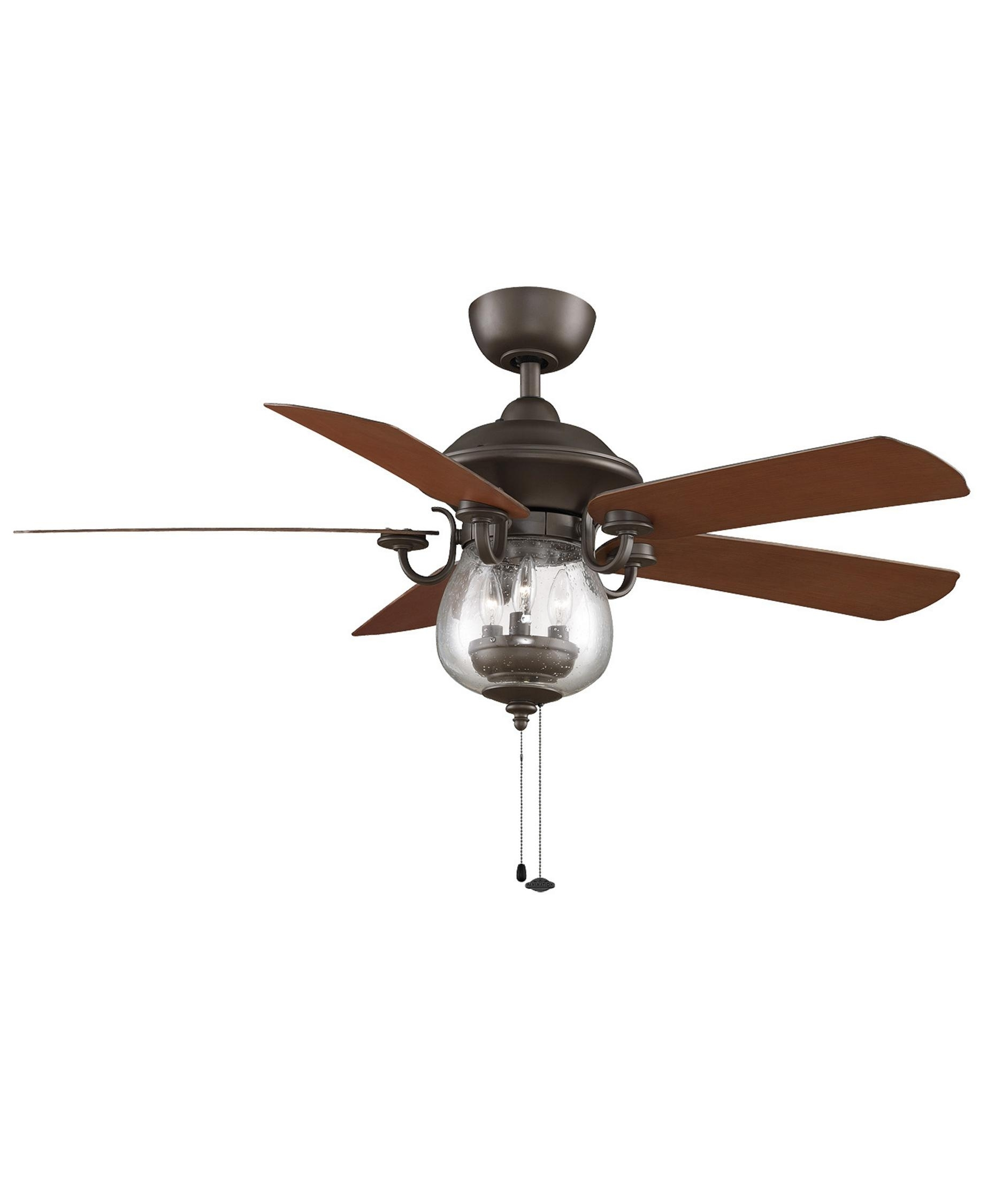 Fanimation Fp7954 Crestford 52 Inch 5 Blade Ceiling Fan | Capitol Intended For Outdoor Ceiling Fan Lights (#4 of 15)