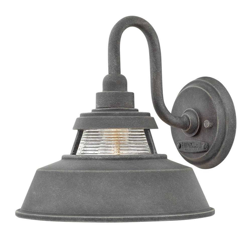 Farmhouse Barn Light Outdoor Wall Light Aged Zinchinkley Within Farmhouse Outdoor Wall Lighting (#4 of 15)