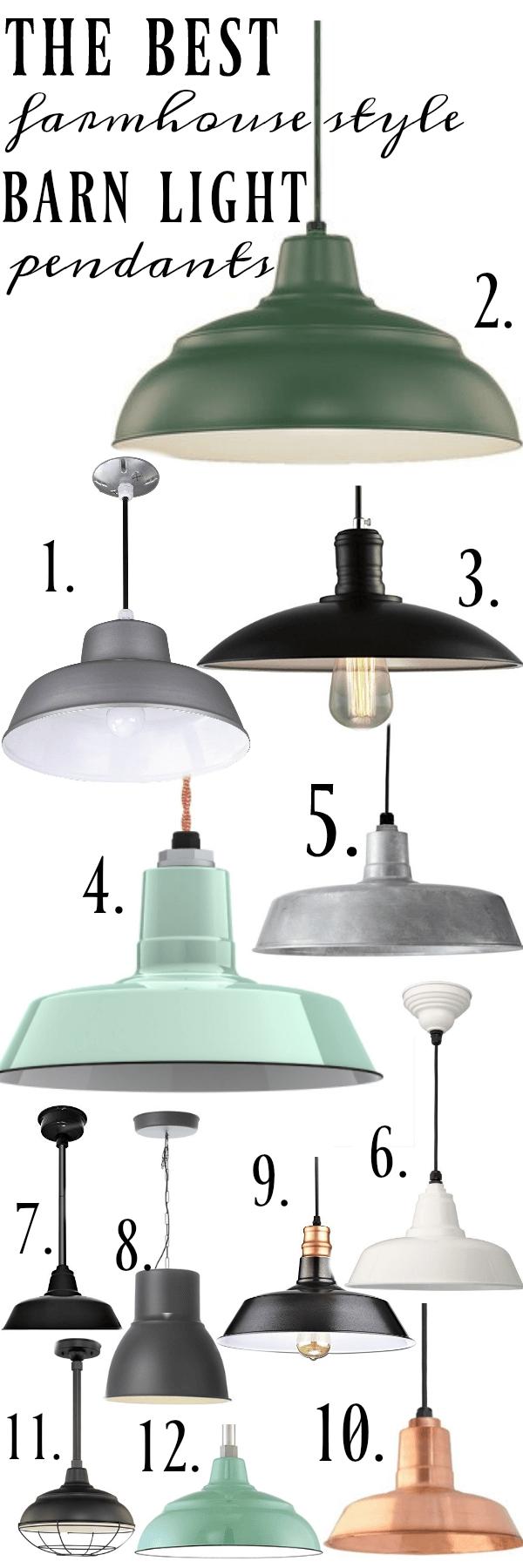 Farmhouse Barn Light Pendants | Farmhouse Style, Cottage Style And Regarding Outdoor Hanging Barn Lights (#6 of 15)