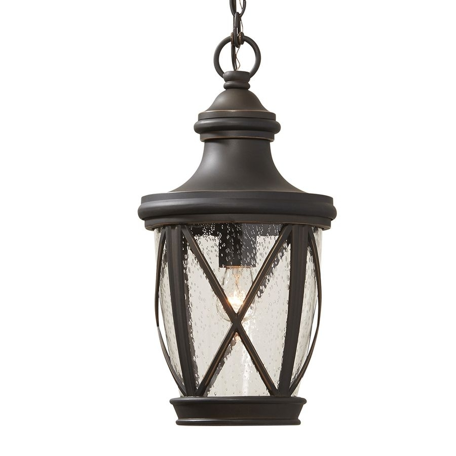 Fascinating Shop Allen Roth Castine In Rubbed Bronze Outdoor Pendant For Outdoor Ceiling Lights For Porch (#2 of 15)