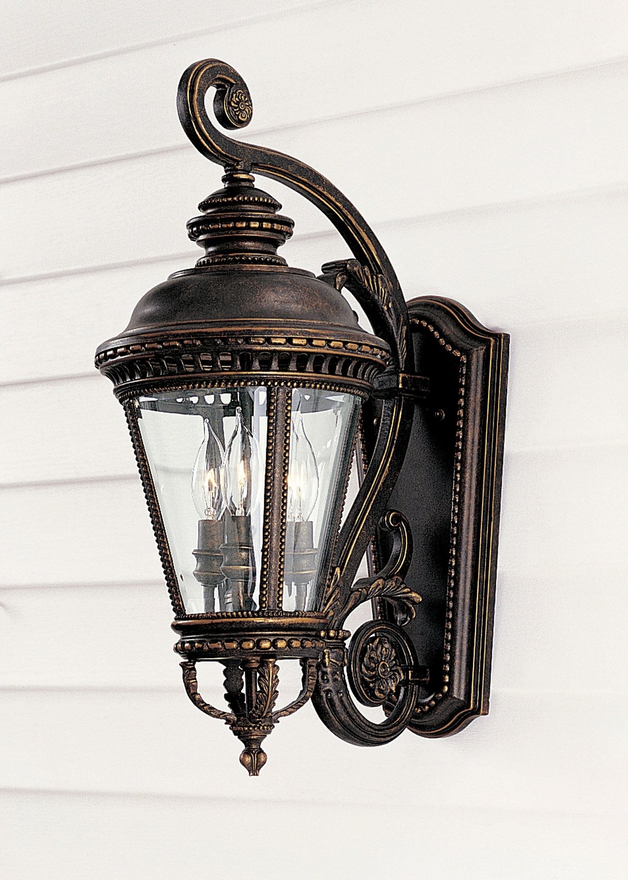 Feiss Ol1901Gbz Castle Outdoor Wall Lantern With Regard To Pineapple Outdoor Wall Lights (#4 of 15)
