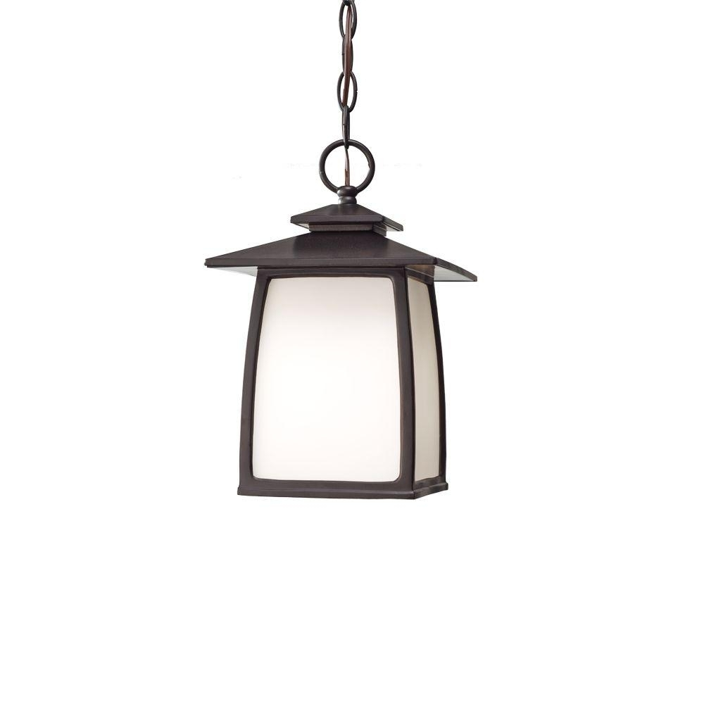 Feiss Wright House 1 Light Oil Rubbed Bronze Outdoor Hanging Lantern With Regard To Oil Rubbed Bronze Outdoor Hanging Lights (#5 of 15)