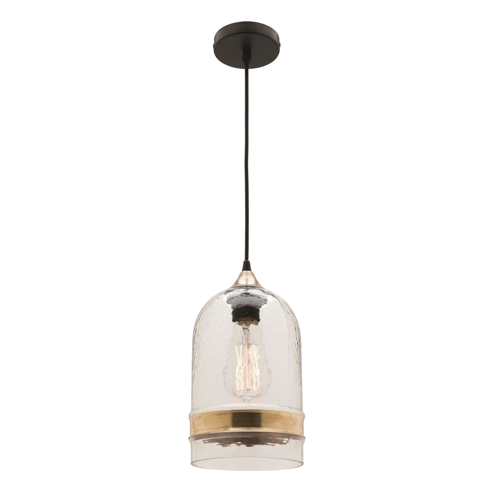 Find Mercator 240V Glass And Brass Haven Pendant Light At Bunnings Inside Outdoor Ceiling Lights At Bunnings (#7 of 15)