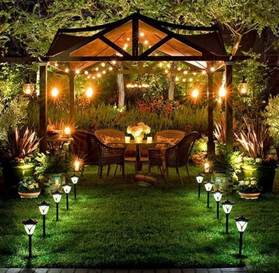 Fireplace : Garden Gazebo Lighting Quictents Outdoor Lights For Within Outdoor Hanging Gazebo Lights (View 12 of 15)