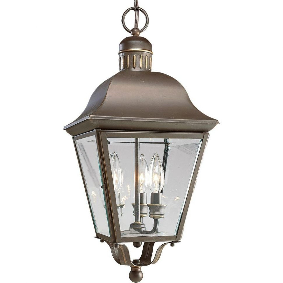 Fireplace : Progress Lighting Andover Collection Light Antique For Bronze Outdoor Hanging Lights (#2 of 15)