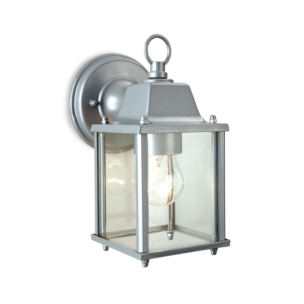 Firstlight 8666Si Coach 1 Light Silver Outdoor Wall Lantern Regarding Endon Lighting Outdoor Wall Lanterns (#12 of 15)