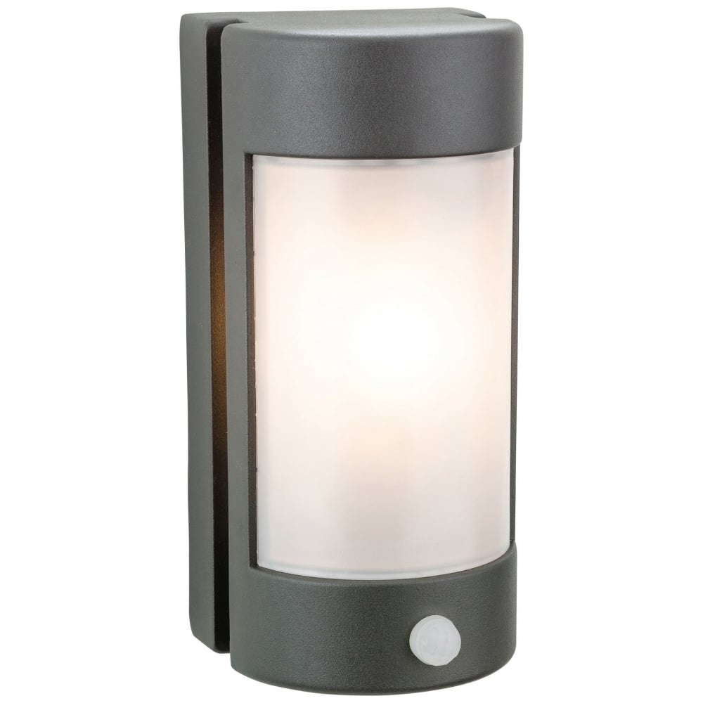 Firstlight Arena Outdoor Pir Wall Light In Graphite Finish With Opal Intended For Outdoor Pir Wall Lights (#9 of 15)