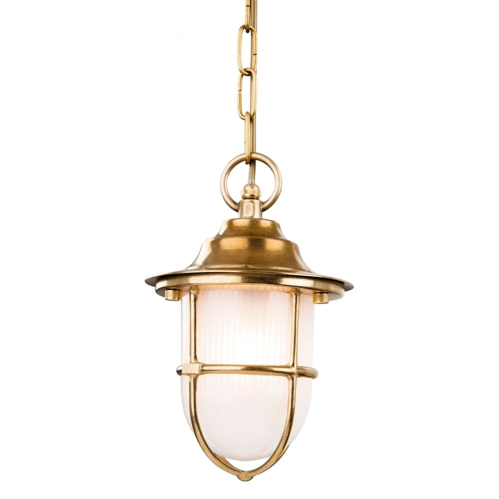 Firstlight Nautic Outdoor Ceiling Pendant Light In Polished Brass Within Polished Brass Outdoor Ceiling Lights (#4 of 15)