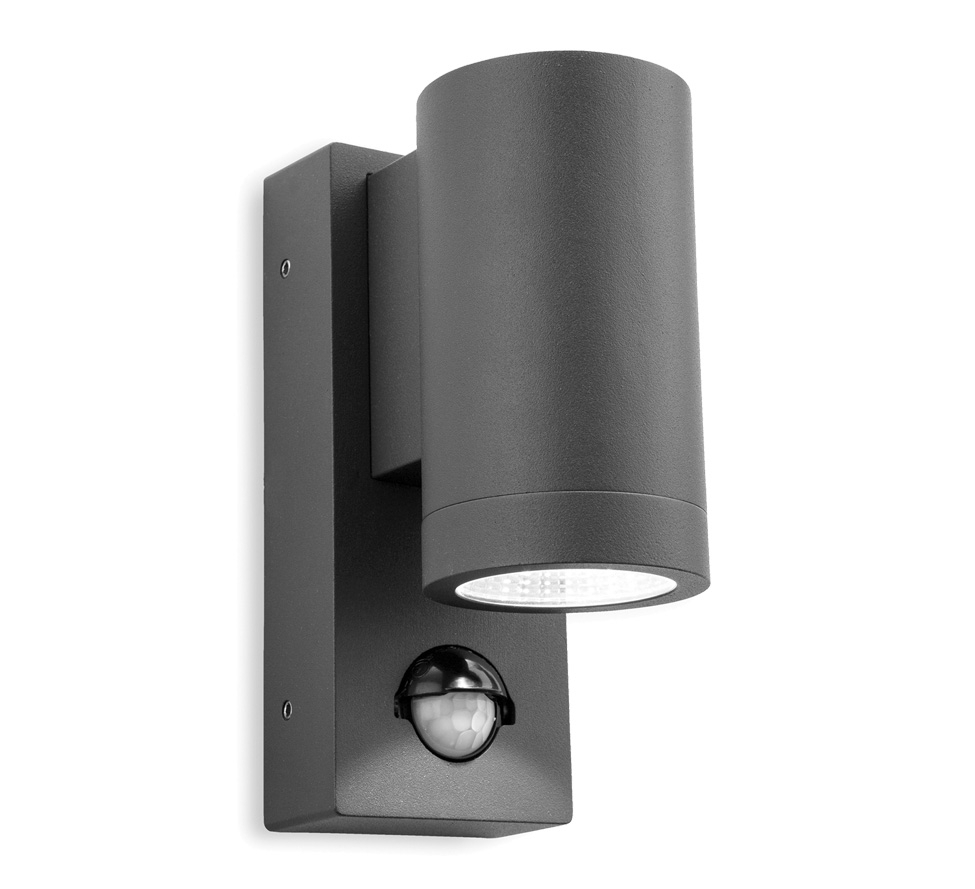 Firstlight 'shelby' Ip65 Led 1 Light Outdoor Up & Down Pir Sensor In Outdoor Led Wall Lights With Pir (#4 of 15)