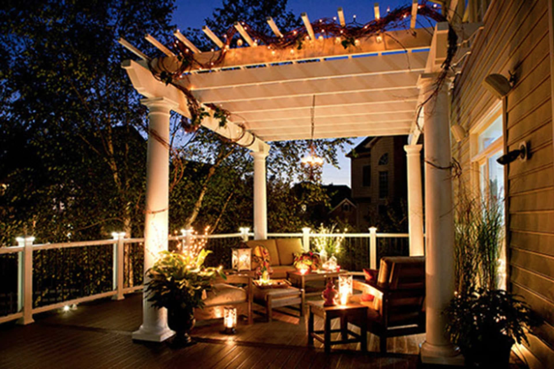 Five Pergola Lighting Ideas To Illuminate Your Outdoor Space With Outdoor Hanging Lights For Pergola (View 10 of 15)