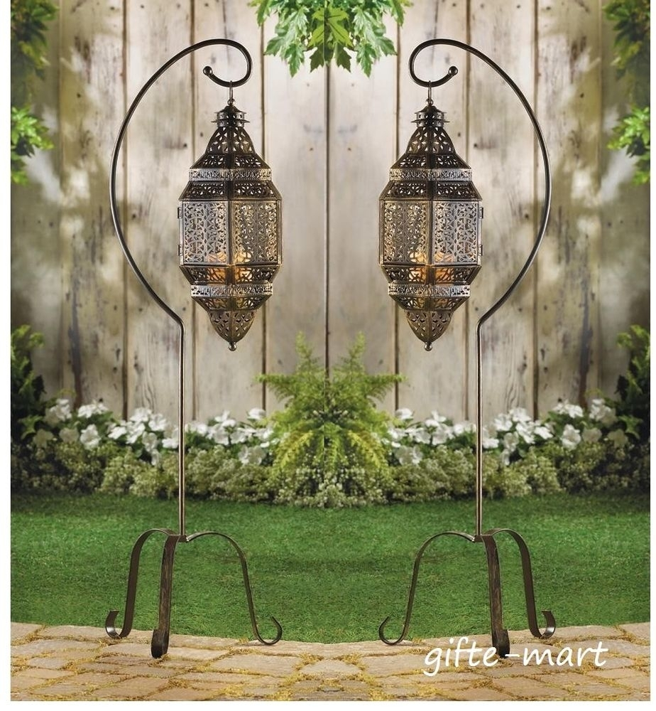 Floor Lantern | Ebay Intended For Outdoor Hanging Lanterns With Stand (View 4 of 15)