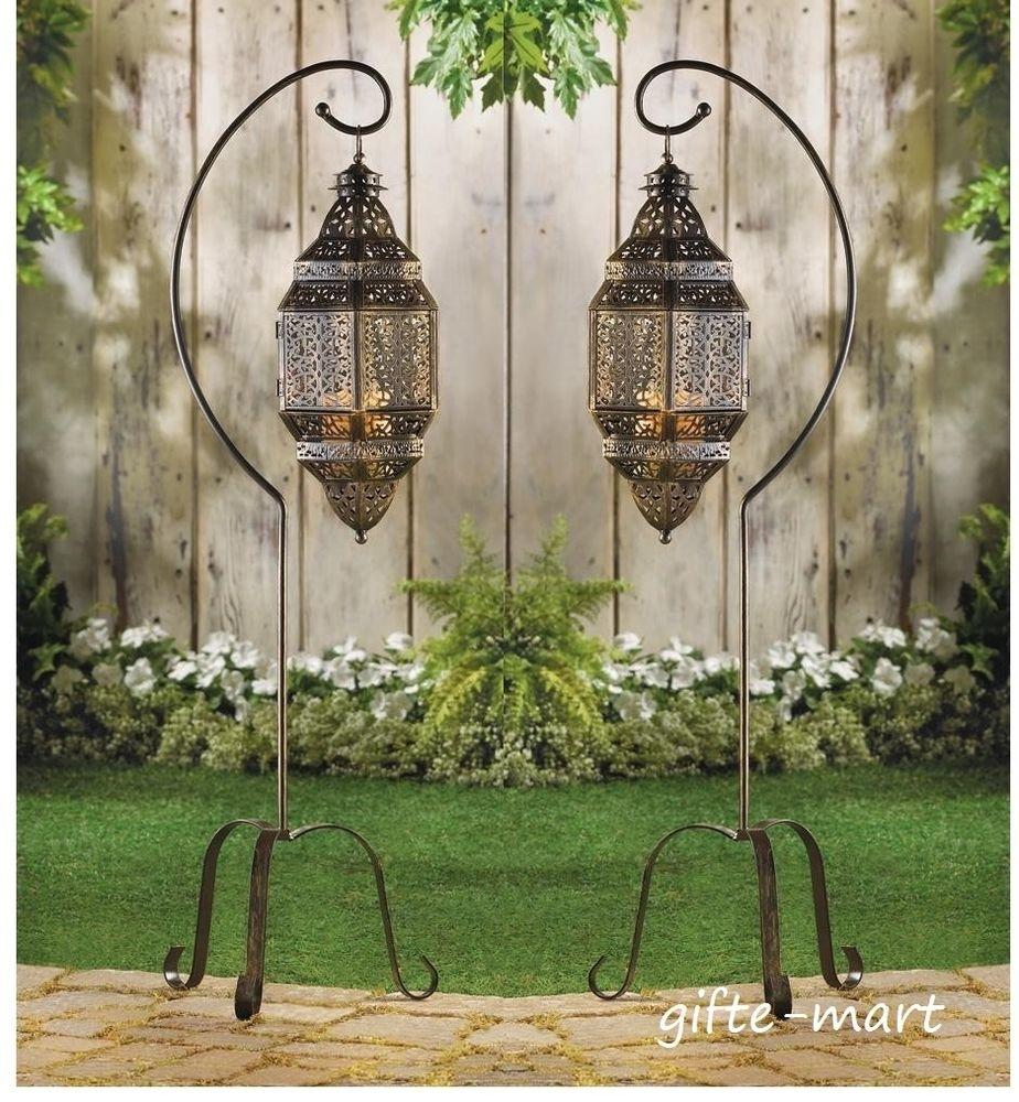 Floor Lantern | Ebay Throughout Outdoor Hanging Moroccan Lanterns (View 3 of 15)