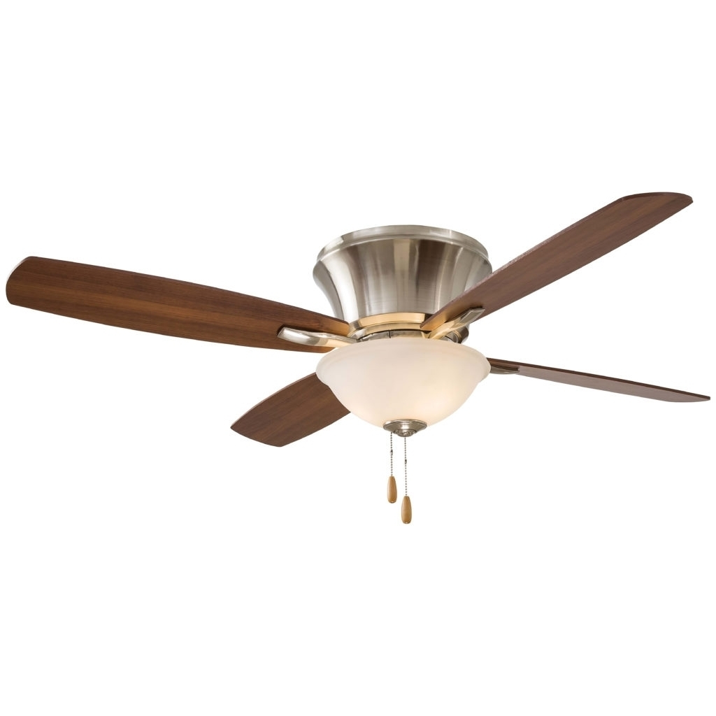Flush Mount Ceiling Fan : 79 Astonishing Fans Without Lights With Within Modern Hampton Bay Outdoor Lighting At Wayfair (#6 of 15)