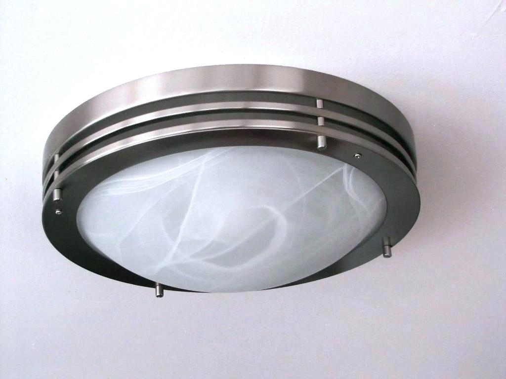 Flush Mount Outdoor Ceiling Fans Without Lights Lighting Pertaining To Outdoor Ceiling Led Lights (#3 of 15)