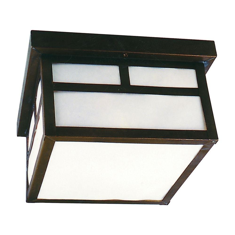 Flushmount Outdoor Ceiling Light | Cr Z1843 7 | Destination Lighting Inside Mission Style Outdoor Ceiling Lights (#6 of 15)