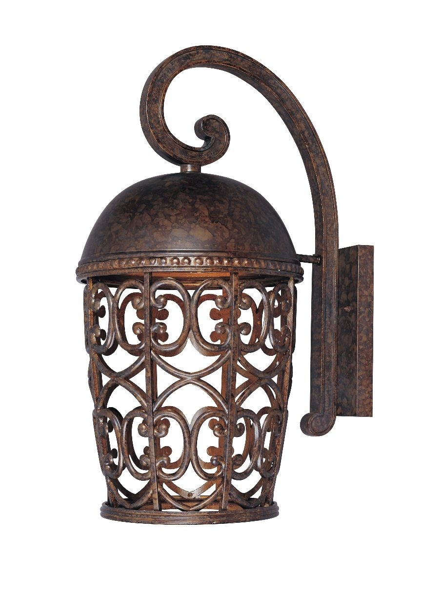 "Fountain 97593 Dark Sky Amherst Tuscan 10"" Single Light Down With Regard To Tuscan Outdoor Wall Lighting (#3 of 15)"