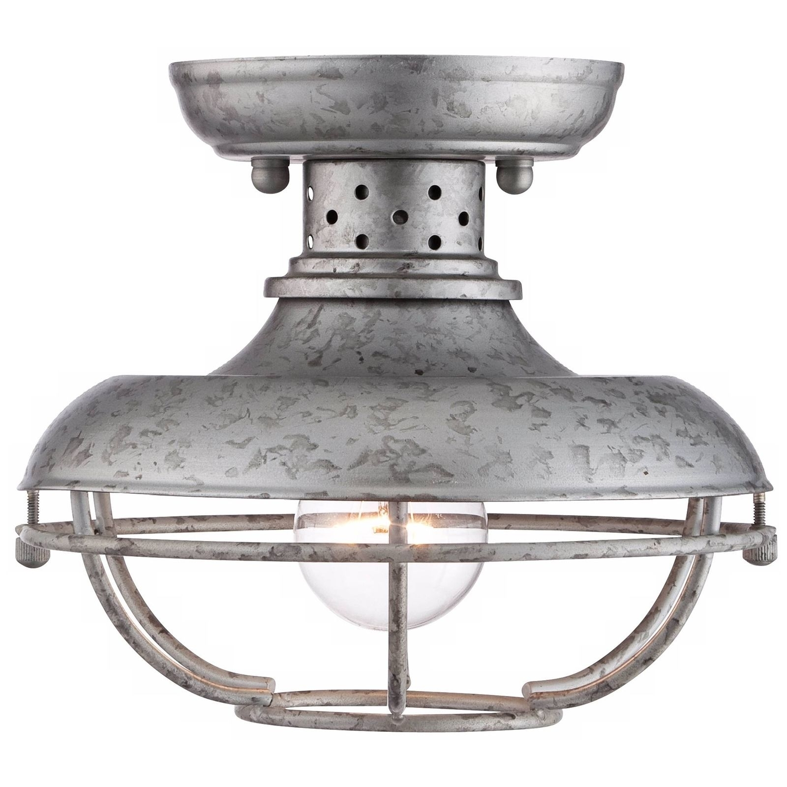 Popular Photo of Galvanized Outdoor Ceiling Lights