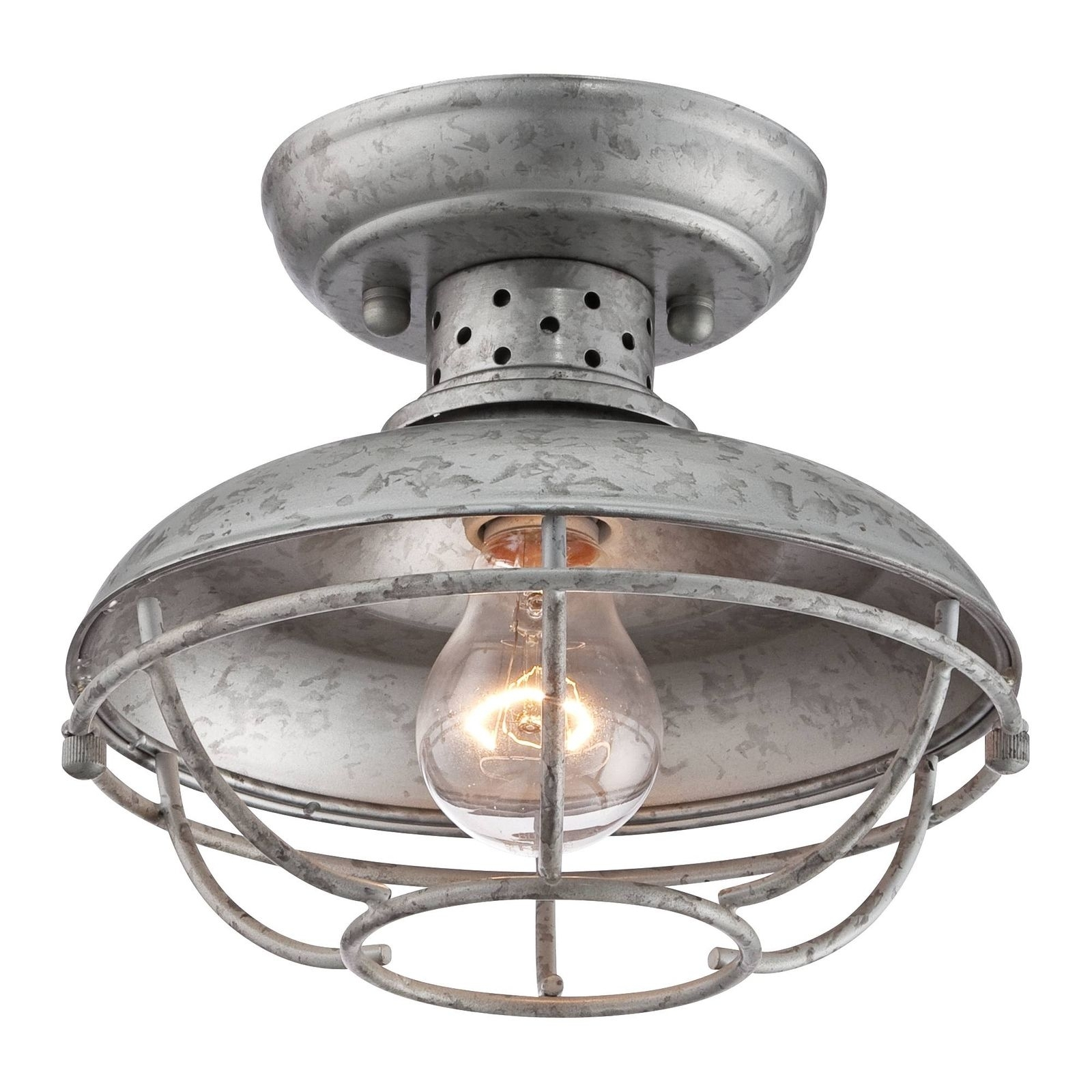 """Franklin Park 8 1/2"""" Wide Galvanized Outdoor Ceiling Light Unknown Within Galvanized Outdoor Ceiling Lights (#6 of 15)"""