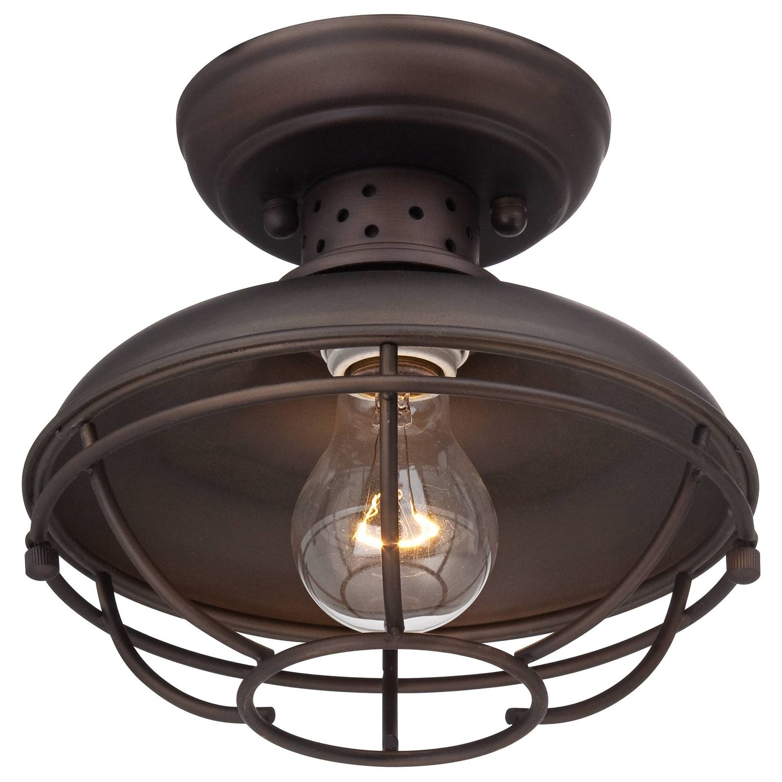 """Franklin Park Metal Cage 8 1/2"""" Wide Outdoor Ceiling Light 