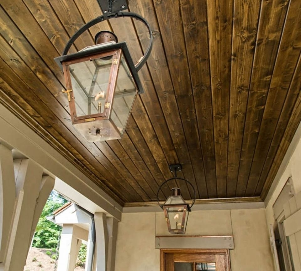 French Quarter Lantern On A Yoke Bracket | Copper Lights | Bevolo Inside Outdoor Hanging Gas Lights (View 3 of 15)