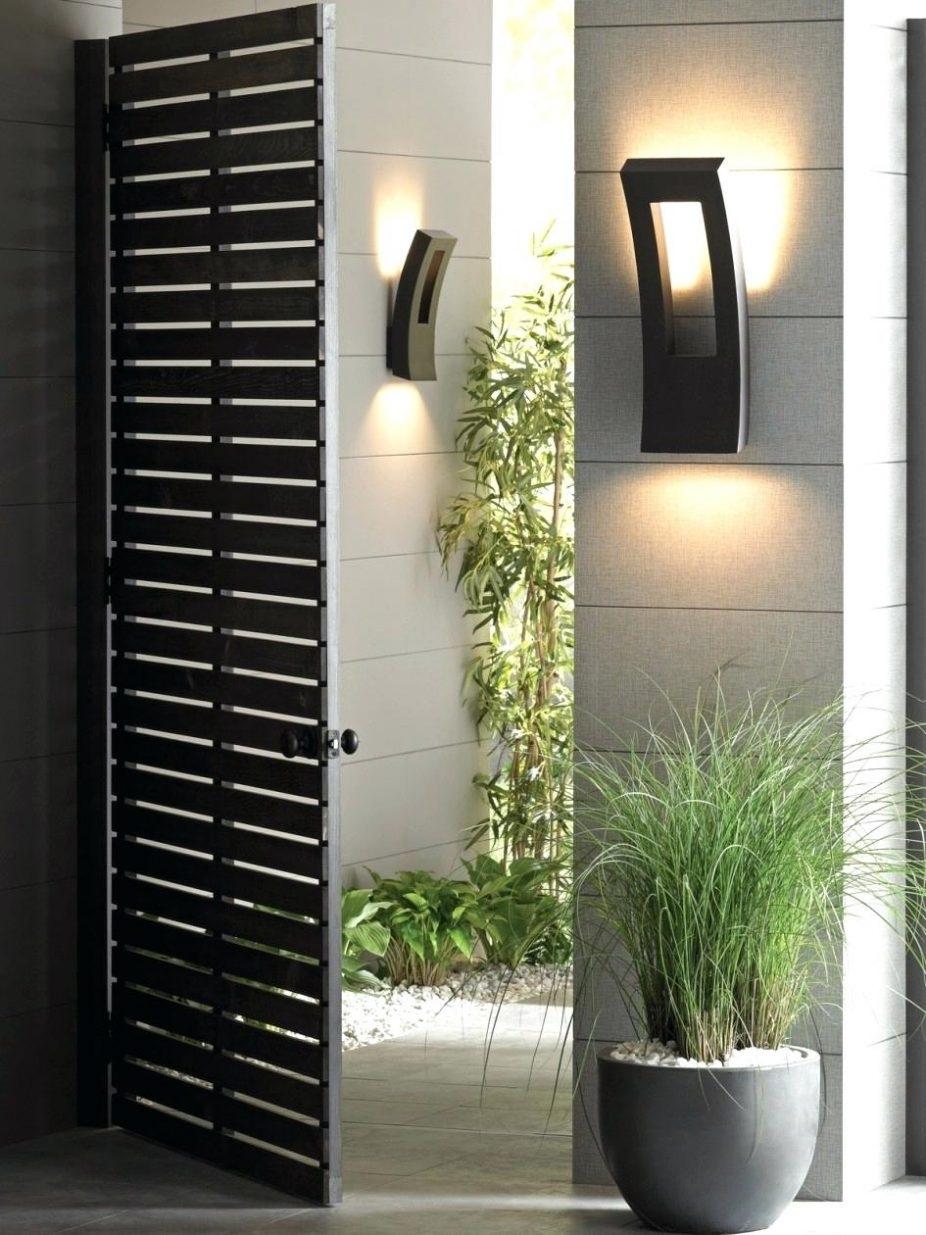 Front Doors : Outside Front Door Wall Lights Front Door Design For Modern Outdoor Wall Lighting (#2 of 15)
