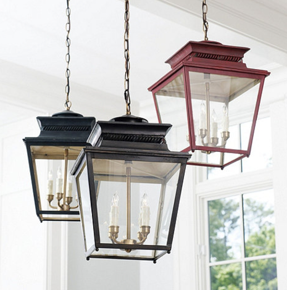 Front Porch Rustic Home Exterior Decoration With Black And Red In Decorative Outdoor Ceiling Lights (#3 of 15)
