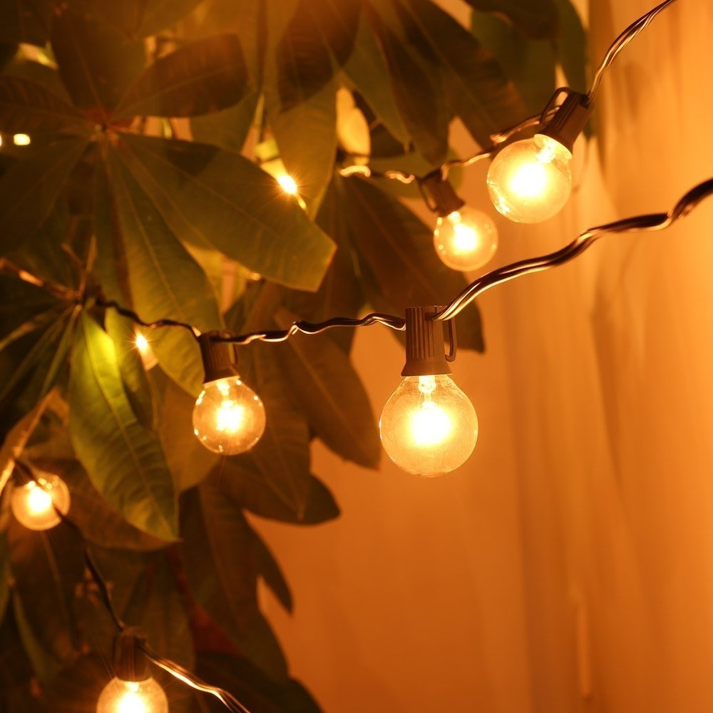 Furniture : Amazon Com Foot Patio Globe String Lights With Clear Pertaining To South Africa Outdoor Hanging Lights (#5 of 15)