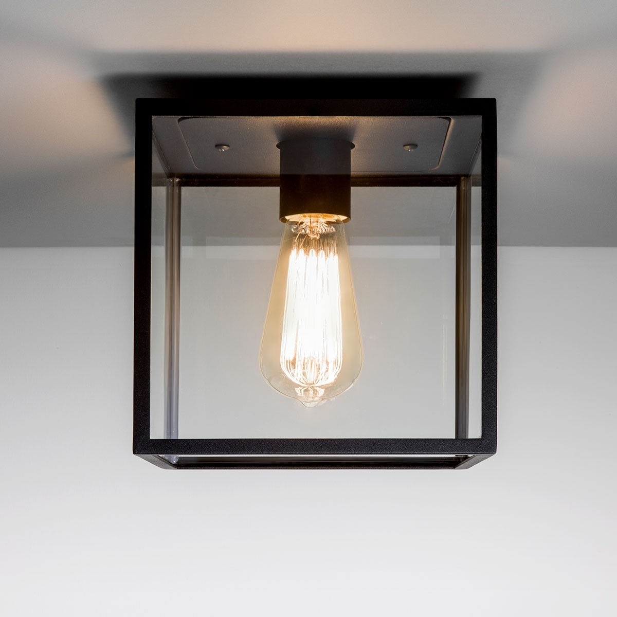Furniture : Astro Box Black Outdoor Ceiling Light Electrical Intended For Outdoor Ceiling Spotlights (View 1 of 15)
