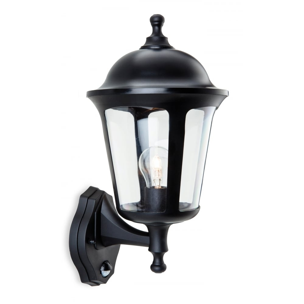 Furniture : Boston Polycarbonate Outdoor Wall Lantern Black With Pir Throughout Outdoor Wall Lights At Homebase (#6 of 15)