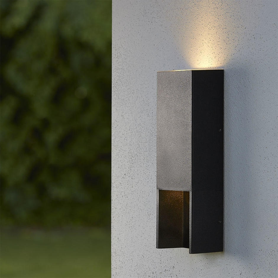 Popular Photo of Outdoor Led Wall Lights For House Sign With Door Number