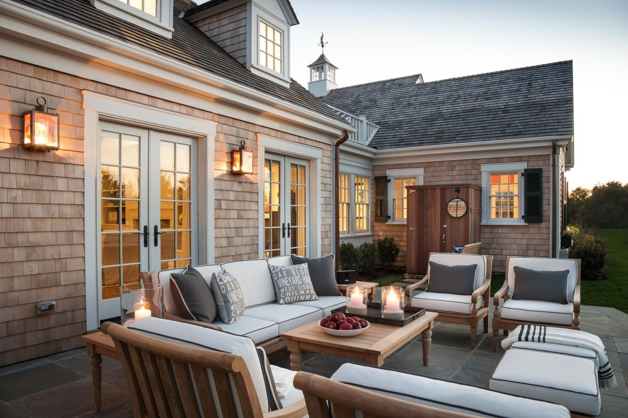 Furniture : Dream House With Cape Cod Architecture And Bright In New England Style Outdoor Lighting (View 6 of 15)