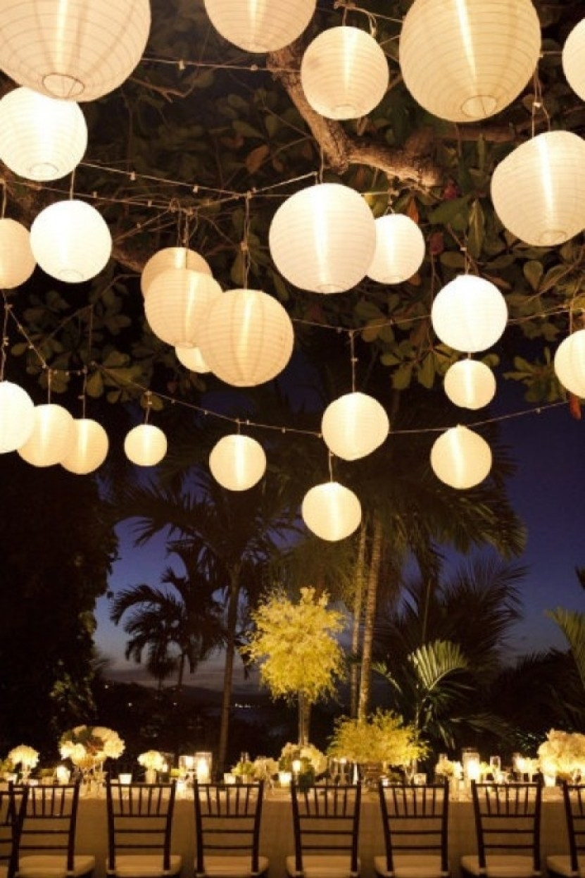 Popular Photo of Outdoor Hanging Chinese Lanterns