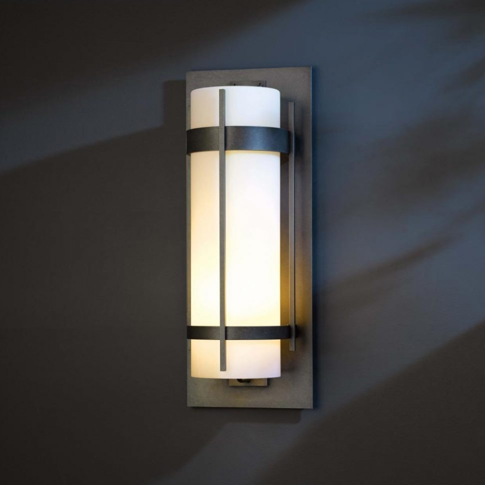 Furniture : Hubbardton Forge Banded Led Exterior Wall Lighting Intended For Outdoor Led Wall Lights For House Sign With Door Number (#4 of 15)