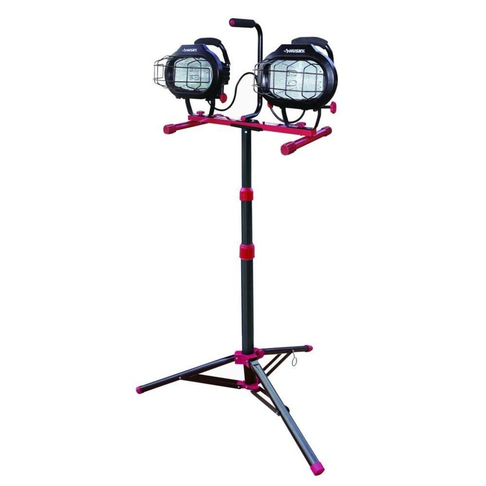 Furniture : Husky Watt Work Light With Tripod The Home Depot Throughout Outdoor Hanging Work Lights (View 11 of 15)
