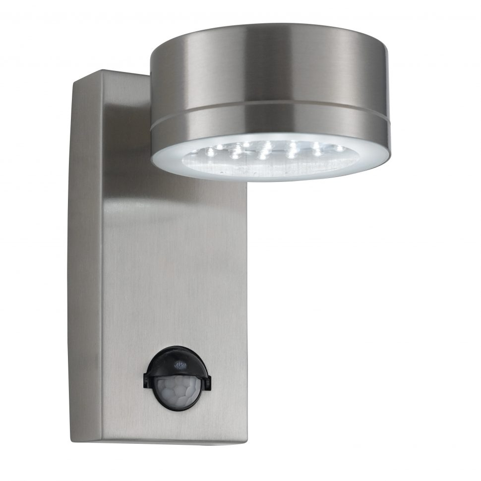 Furniture : Steel Ip44 Led Outdoor Wall Light With Motion Sensor Intended For Made In Usa Outdoor Wall Lighting (#5 of 15)