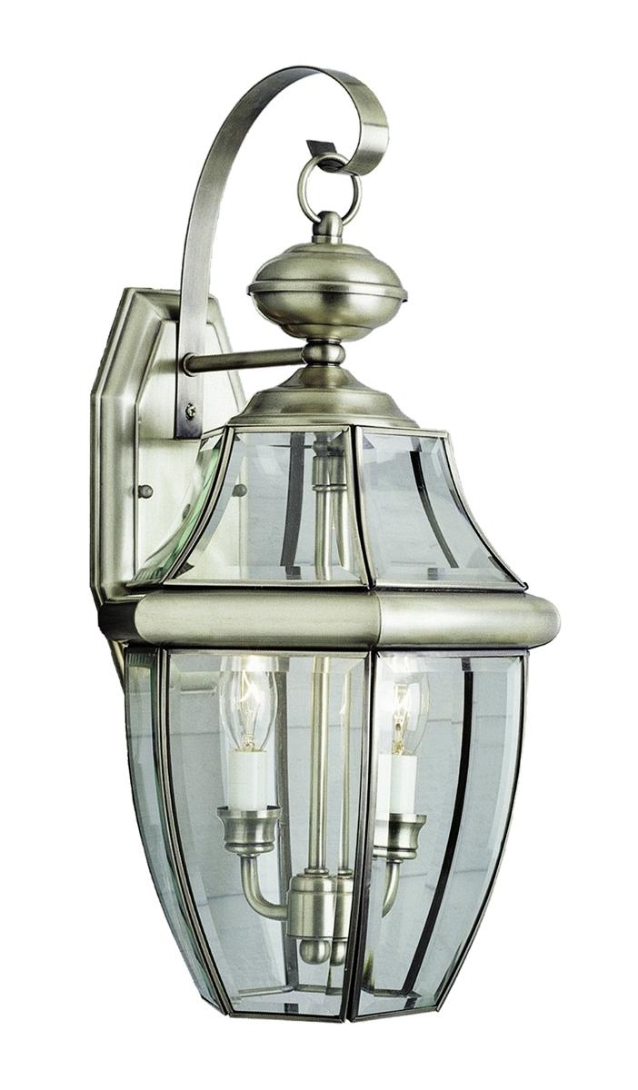 Furniture : Thomas Lighting Heritage Light Brushed Nickel Outdoor In Brushed Nickel Outdoor Wall Lighting (#3 of 15)
