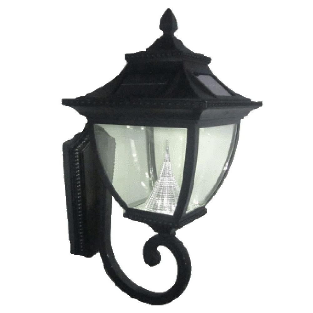 Gama Sonic Pagoda Solar Black Outdoor Wall Lantern Gs 104W – The Regarding Solar Outdoor Wall Light Fixtures (#6 of 15)