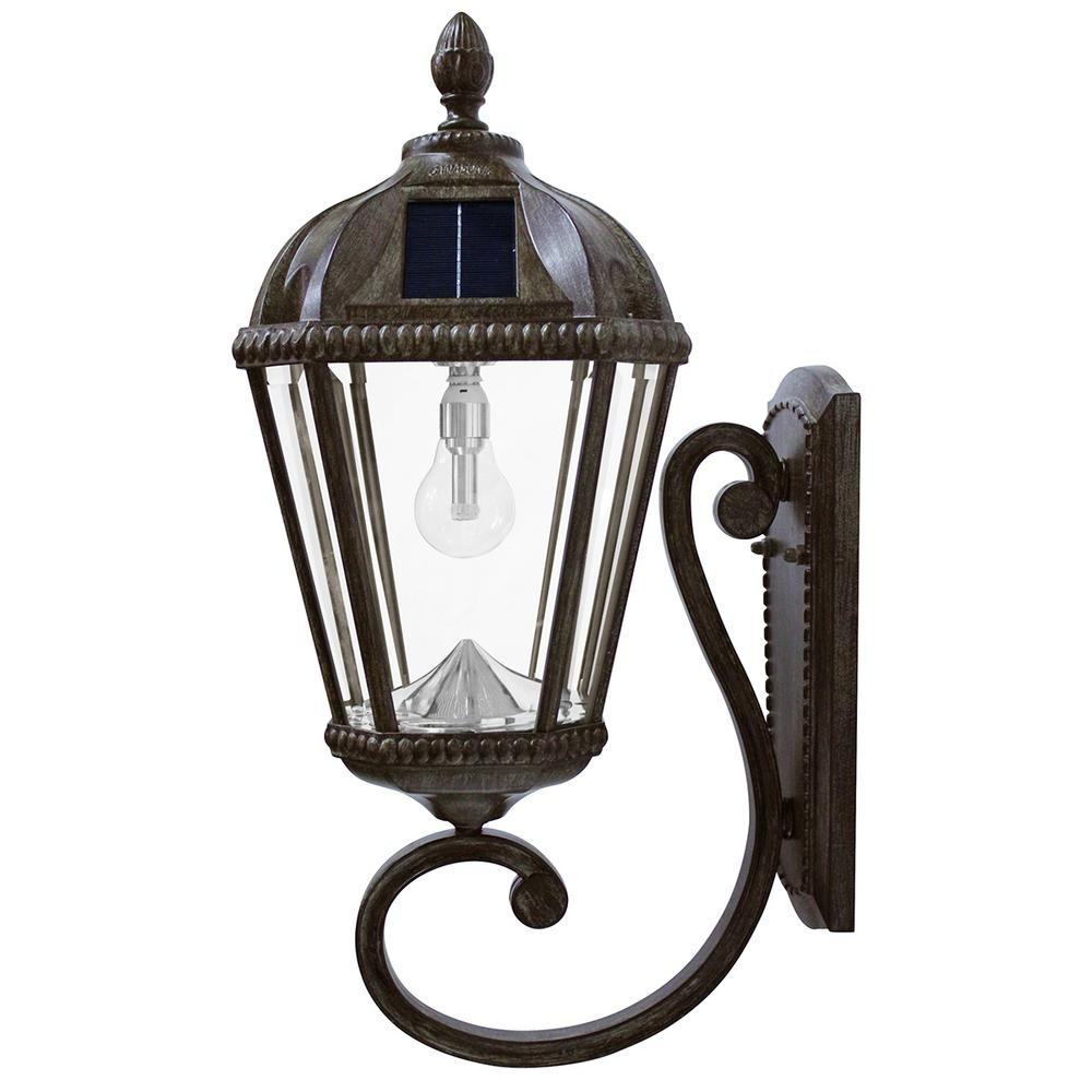 Gama Sonic Royal Bulb Series 1 Light Weathered Bronze Outdoor With Regard To Solar Led Outdoor Wall Lighting (#6 of 15)