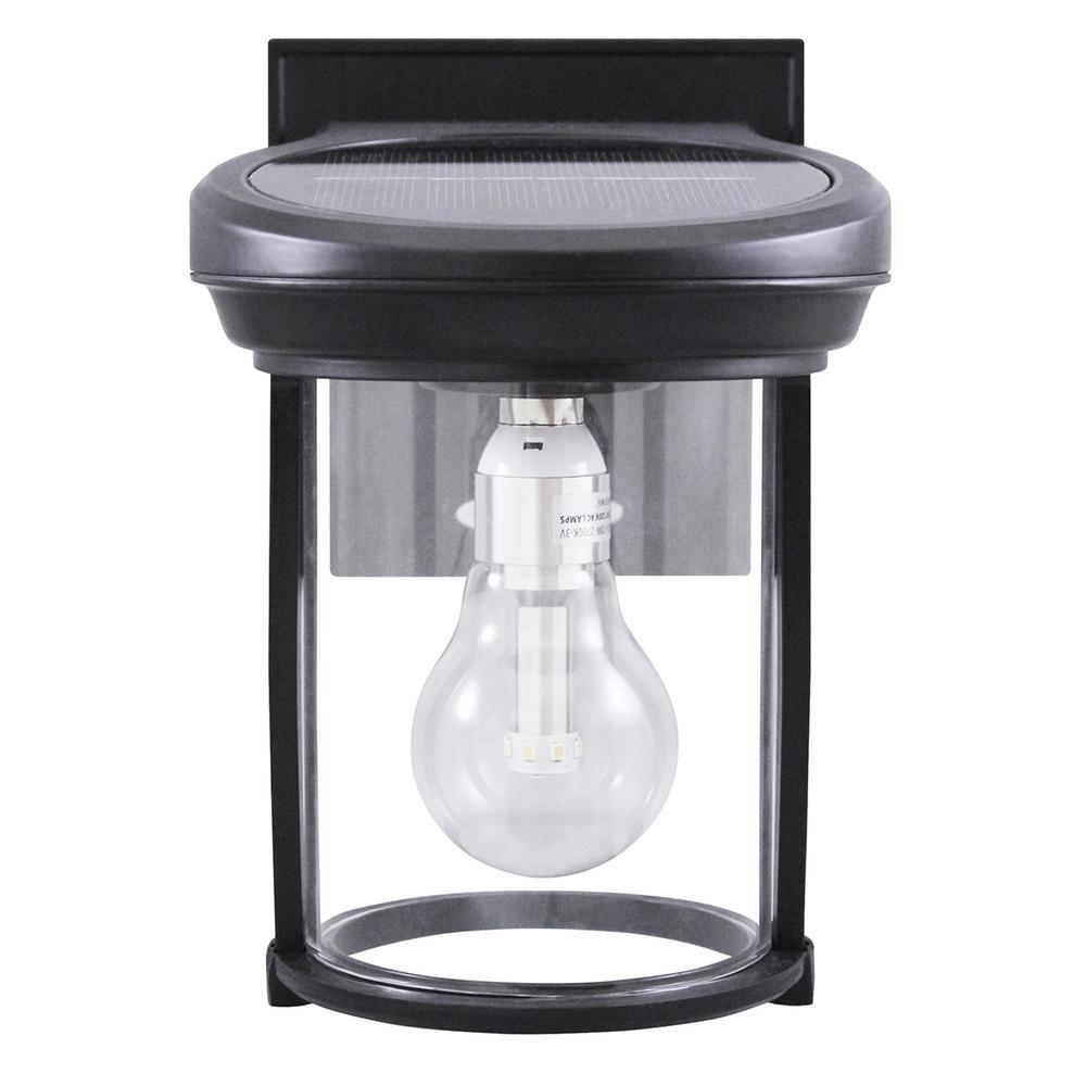 Gama Sonic Solar Coach 1 Light Black Outdoor Wall Lantern Gs 1B B Regarding Modern Solar Garden Lighting At Home Depot (#4 of 15)