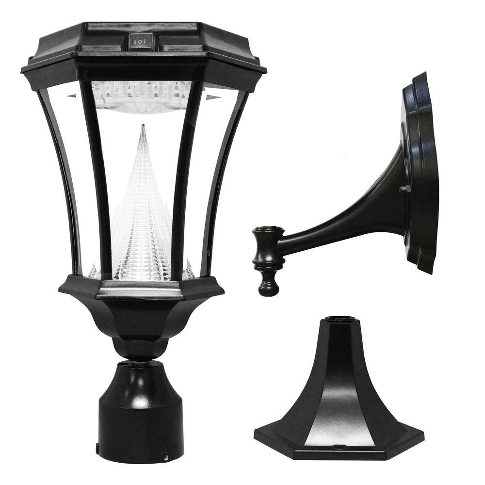 Inspiration about Gama Sonic Victorian Single Black Integrated Led Outdoor Solar Lamp With Outdoor Wall And Post Lighting (#8 of 15)