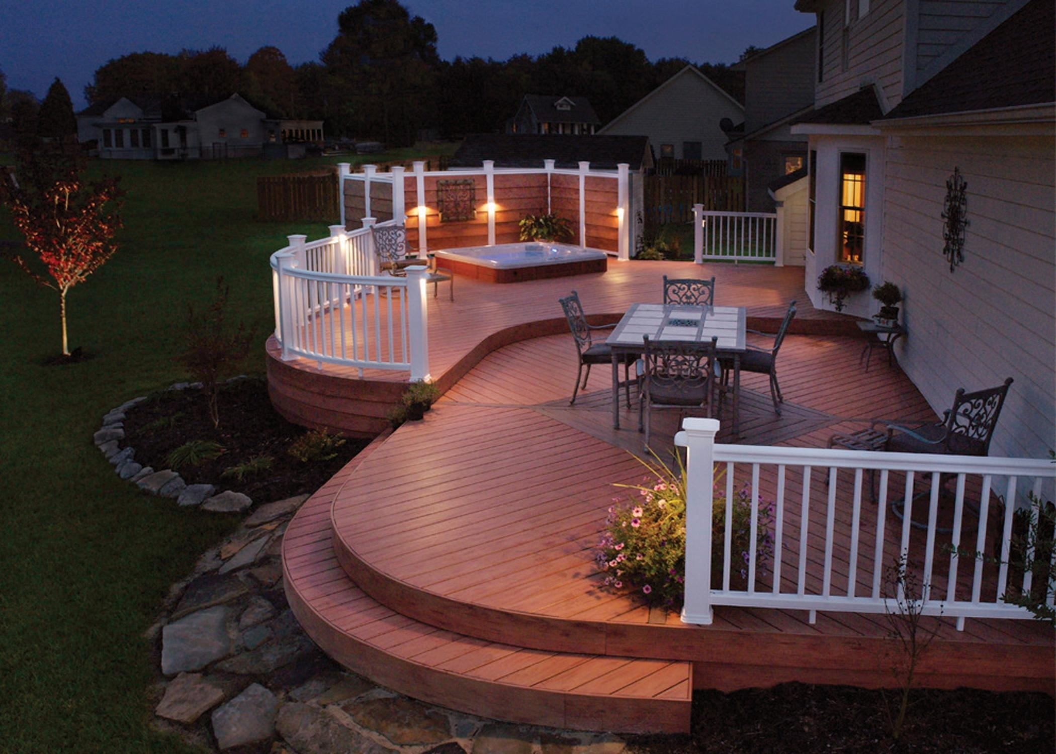 Inspiration about Garden Ideas : Low Voltage Deck Lighting Ideas Some Tips To Get The Intended For Modern Garden Low Voltage Deck Lighting (#7 of 15)