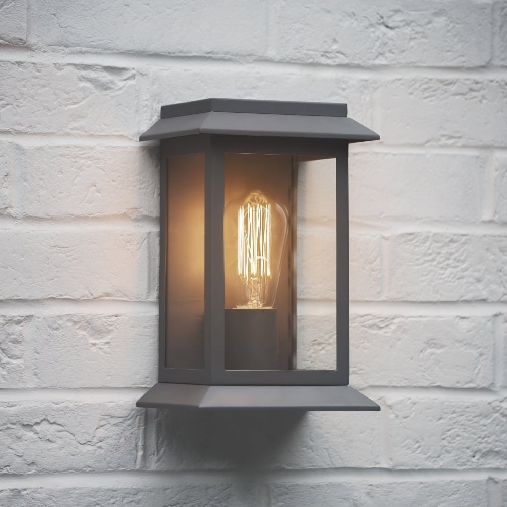 Inspiration about Garden Trading Grosvenor Outdoor Wall Light In Charcoal – Fitting With Garden Outdoor Wall Lights (#10 of 15)