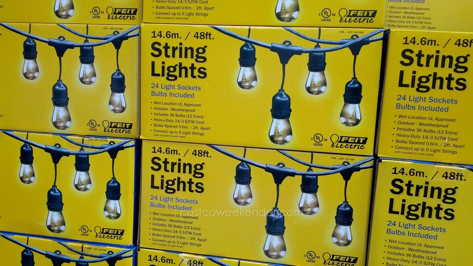 Inspiration about Gardenscaping: Putting Up The Costco Patio Lights Regarding Hanging Outdoor String Lights At Costco (#4 of 15)