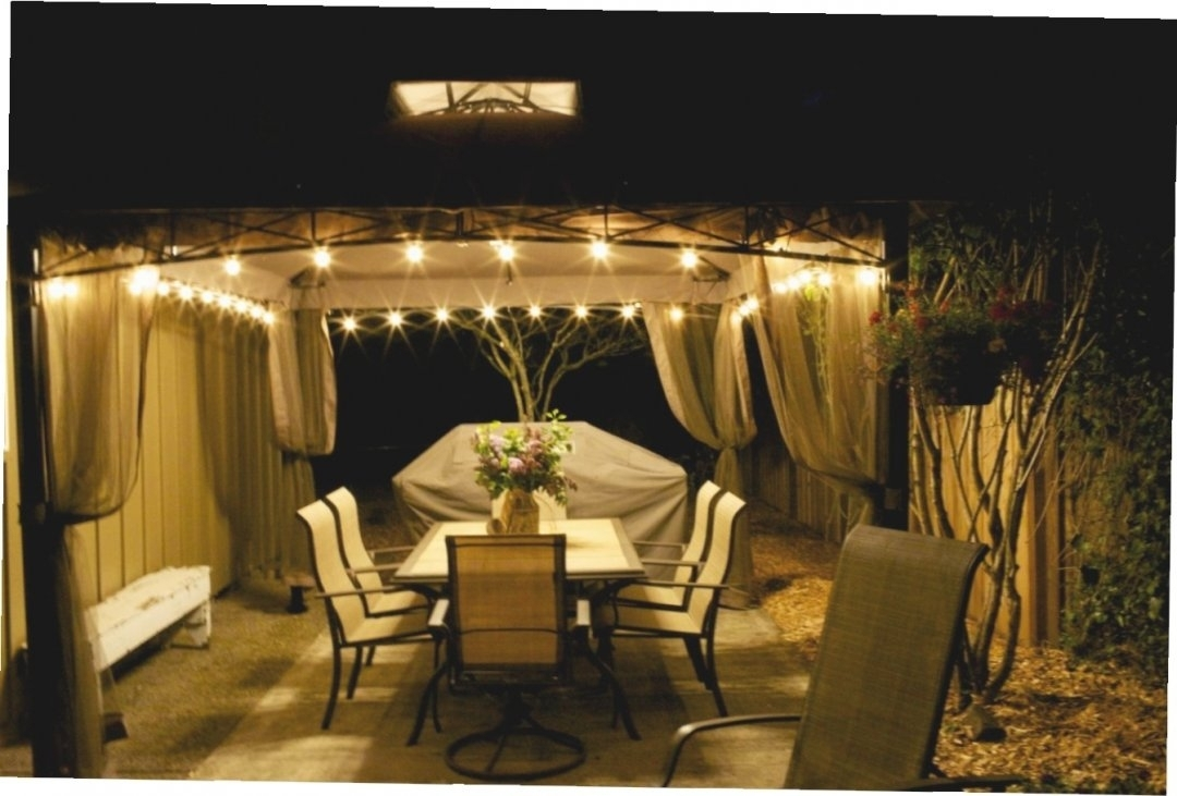 Inspiration about Gazebo Chandelier Lowes Large Outdoor Lighting Walmart Ideas Plug For Outdoor Hanging Gazebo Lights (#4 of 15)