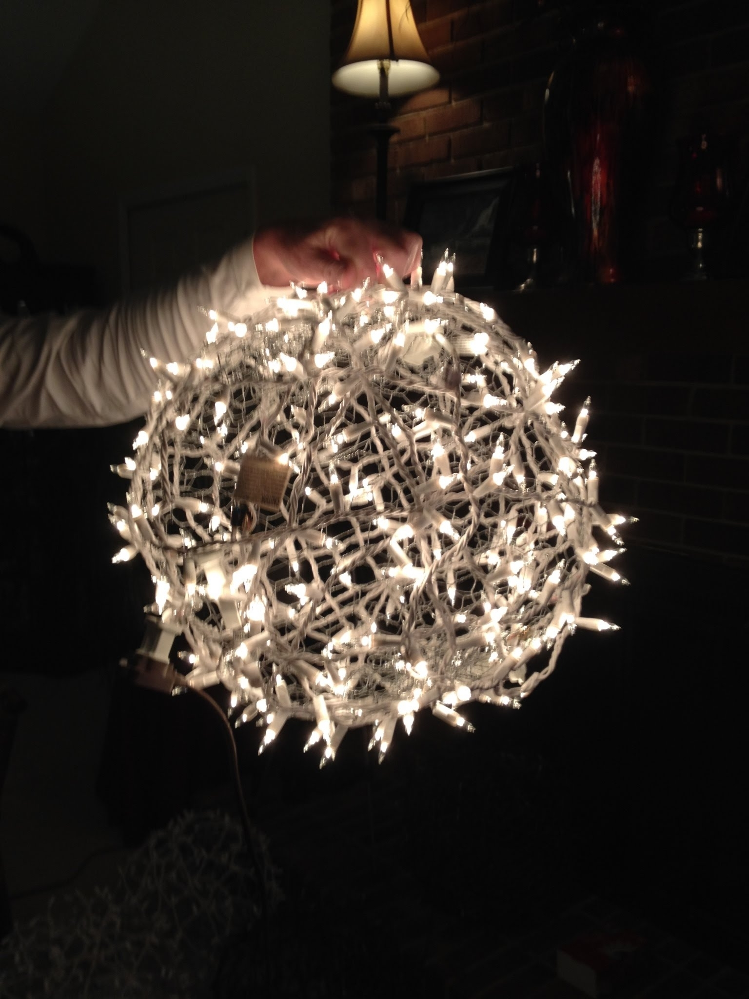 Giant Lighted Christmas Balls – How To Hang Them On A Tree – Youtube With Big Outdoor Hanging Lights (#7 of 15)