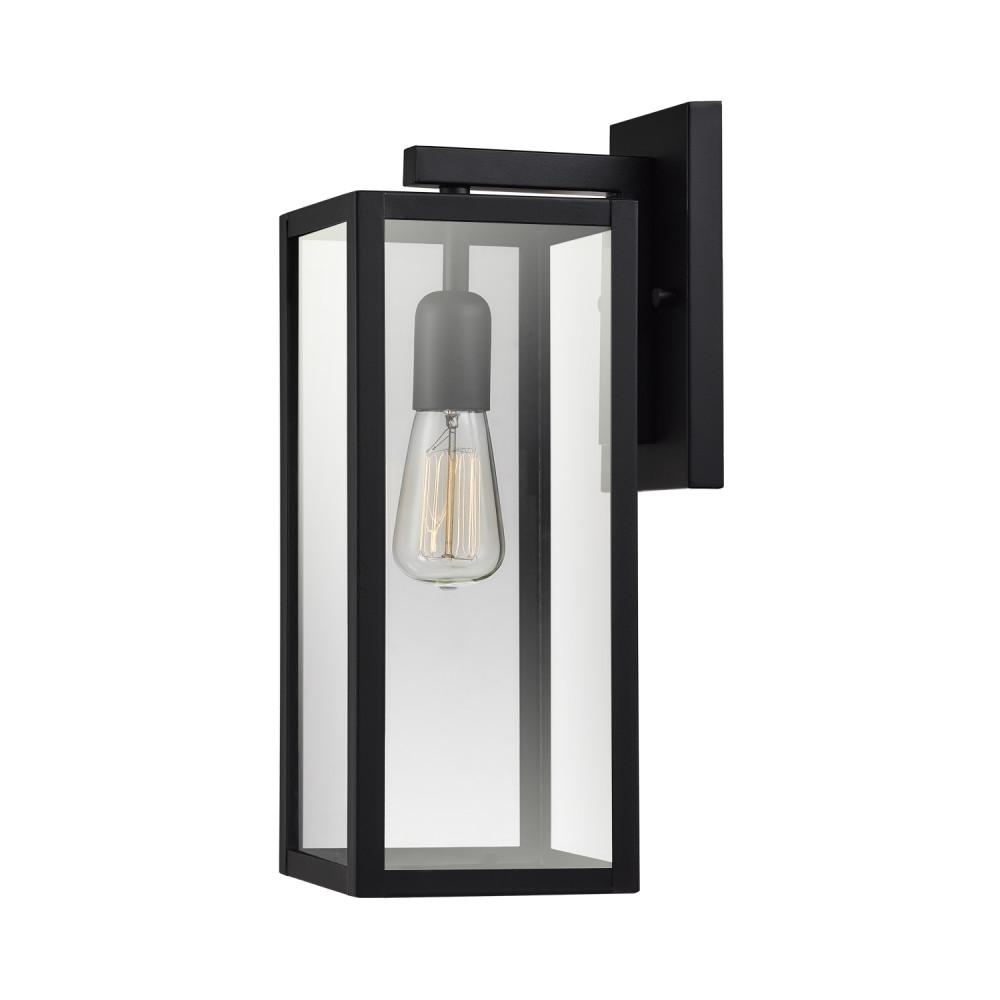 Inspiration about Globe Electric Hurley 1 Light Matte Black Outdoor Wall Mount Sconce Intended For Outdoor Wall Mounted Globe Lights (#10 of 15)
