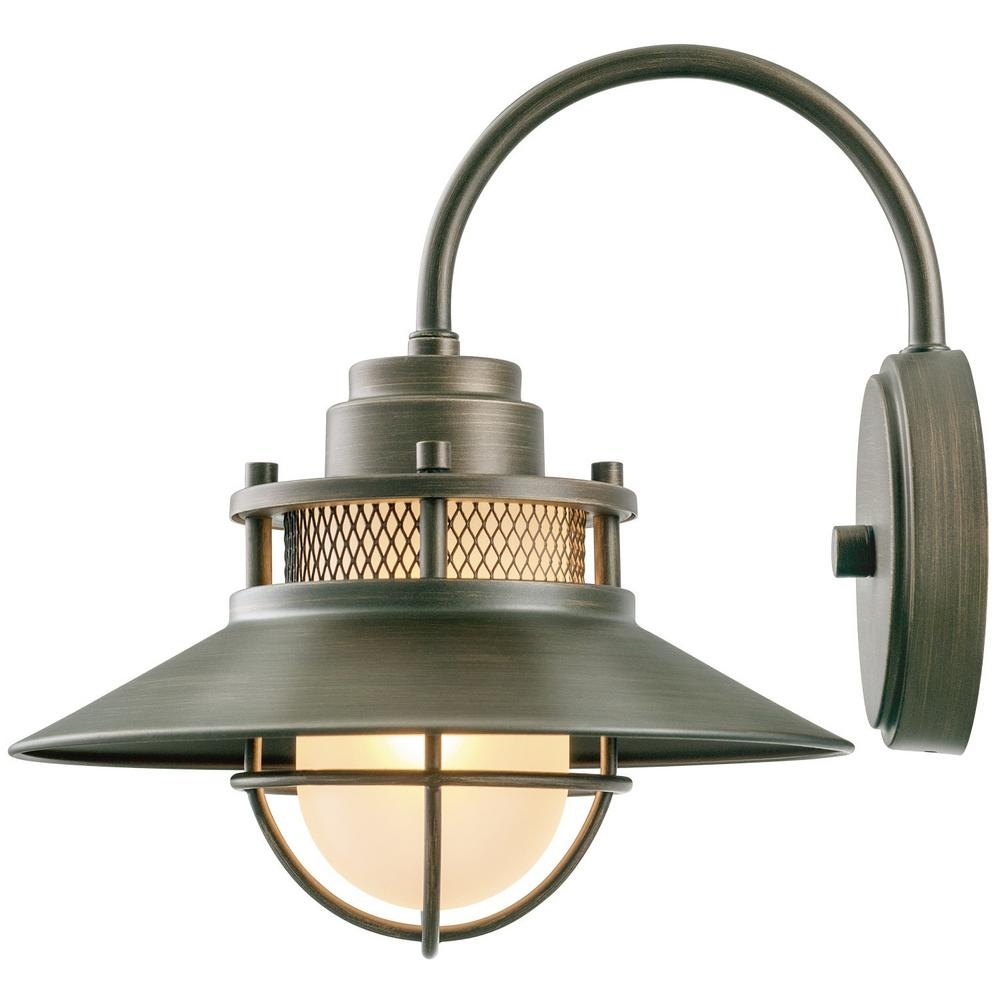 Inspiration about Globe Electric Liam Collection 1 Light Bronze Outdoor Wall Sconce Pertaining To Outside Wall Globe Lights (#15 of 15)