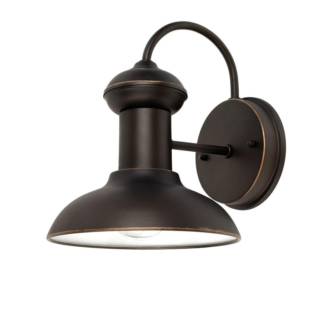 Inspiration about Globe Electric Martes 10 In. Oil Rubbed Bronze Downward Indoor In Outdoor Wall Mounted Globe Lights (#5 of 15)