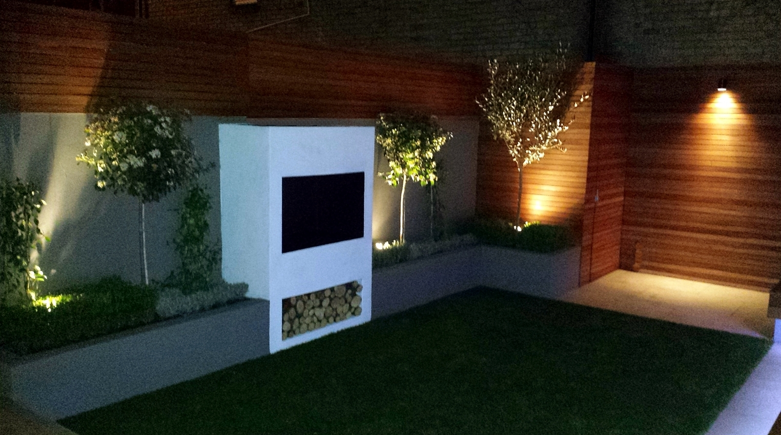 Inspiration about Great Amazing Garden Designs With Led Lights Modernbathroom Inside Garden Outdoor Wall Lights (#8 of 15)