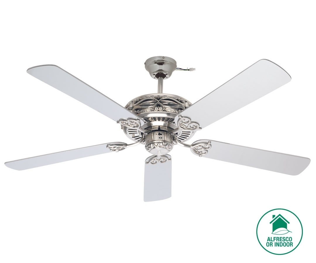 Inspiration about Grenada 132Cm Fan In Brushed Chrome With Silver Blades,fans,beacon In Outdoor Ceiling Fan Beacon Lighting (#15 of 15)